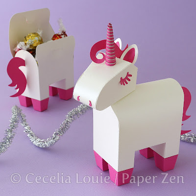 Unicorn Party Favor Gift Box