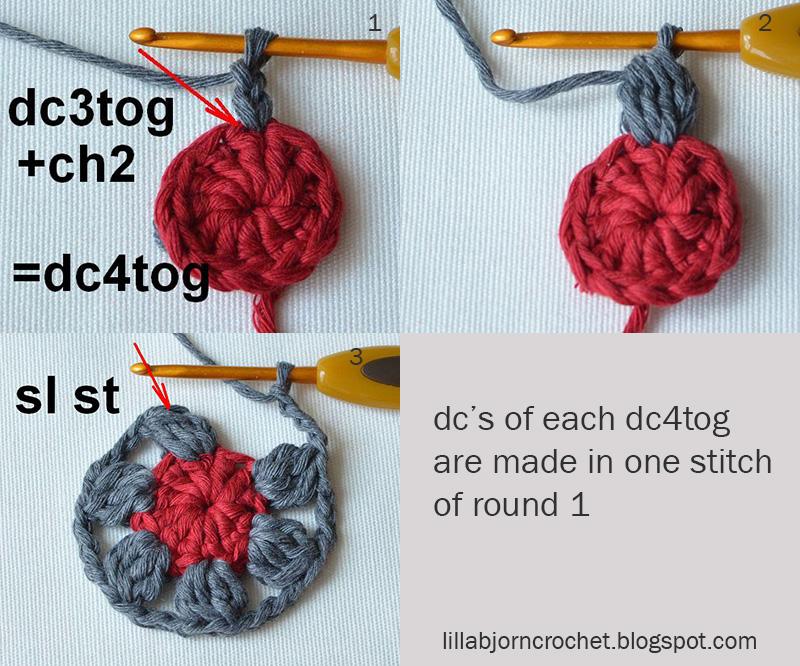 Block 9 from Circles of the Sun Mystery CAL (overlay crochet). Designed by LillaBjornCrochet