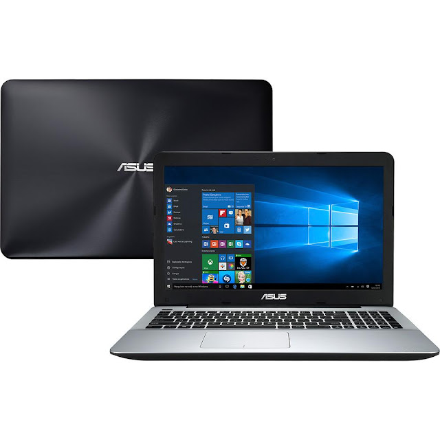 "Notebook Asus X Intel Core i7 8GB Tela LED 15,6"" Windows 10"