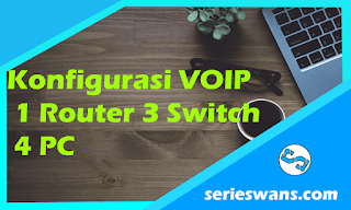 Konfigurasi VOIP Cisco Packet Tracer 1 Router 3 Switch dan 4 PC