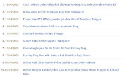 Daftar Isi Blog Berdasarkan Tanggal