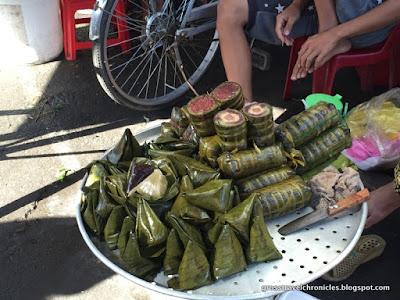 rice snacks in bamboo
