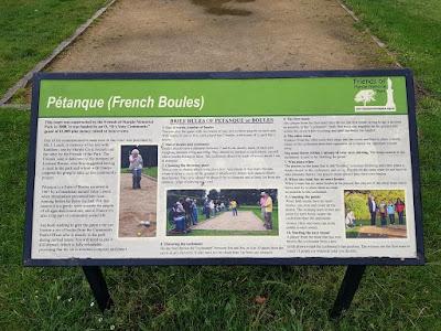 Petanque at Memorial Park in Marple