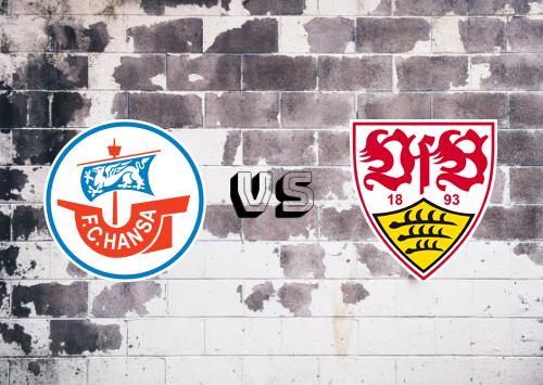 Hansa Rostock vs Stuttgart  Resumen