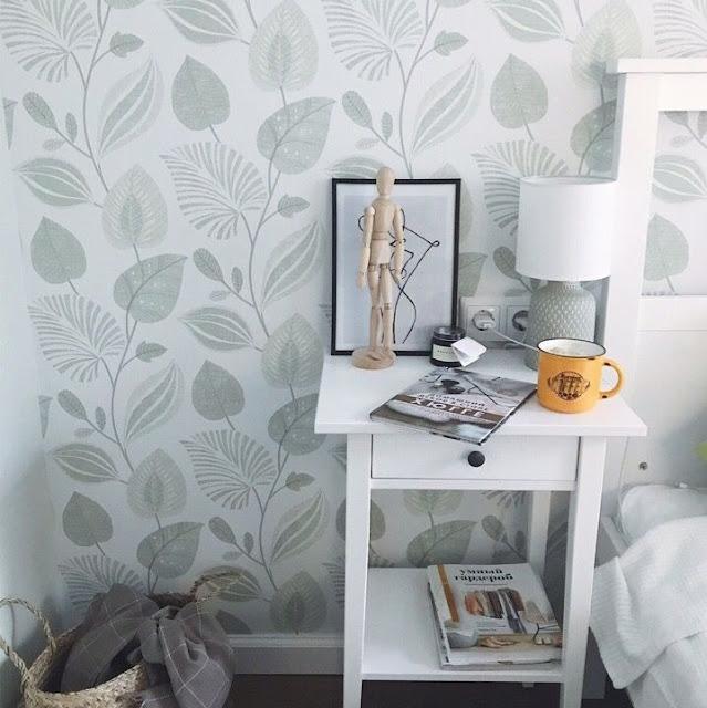 Wallpaper Dinding Kamar Tidur Kesan Alami Romantis