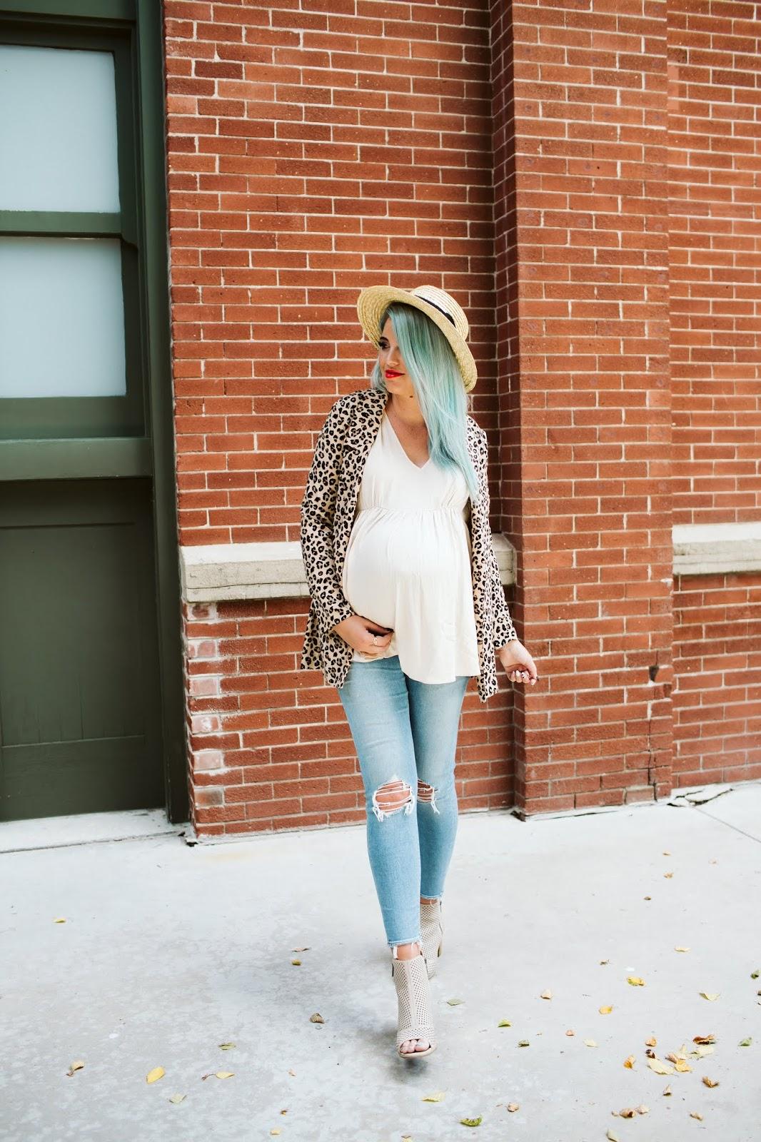 Maternity Style, Maternity Fashion, Leopard Blazer