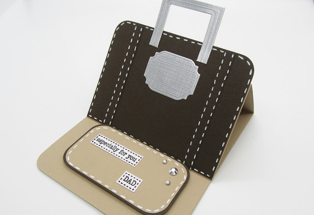 briefcase easel card