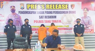 2 Tersangka Perdagangan Orang di Tana Toraja Terancam 15 Tahun Penjara