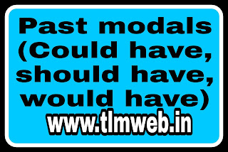 Past modals (Could have, should have, would have)