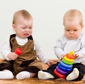 Bebes llorando por el mismo juguete