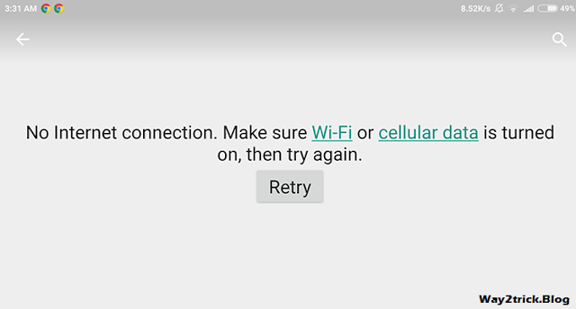 "Google Play ""No Connection – Retry"" Problem"