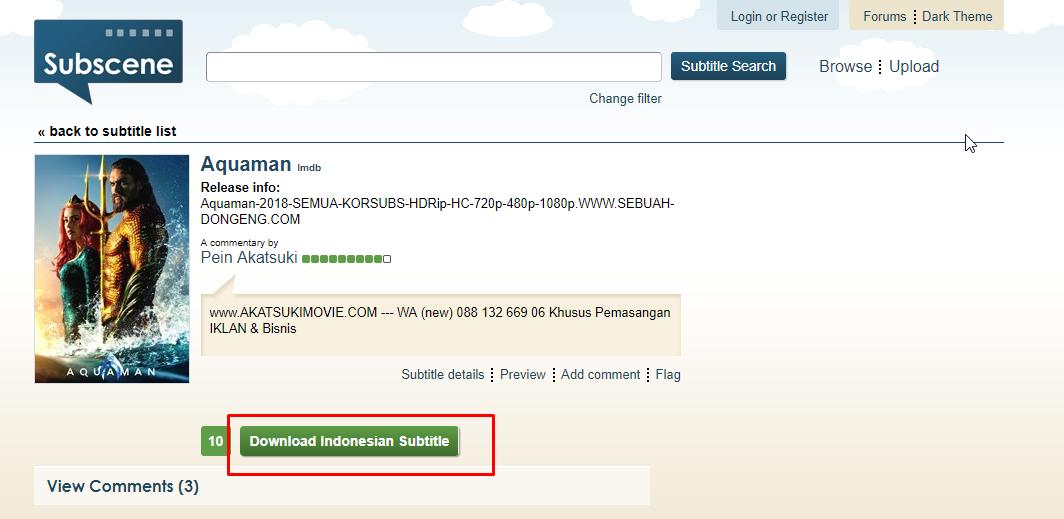 Cara Download Subtitle Indonesia di Subscene - Uptodit com
