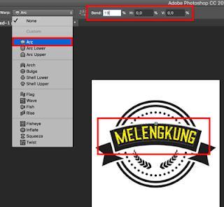 Cara membuat teks melengkung di photoshop