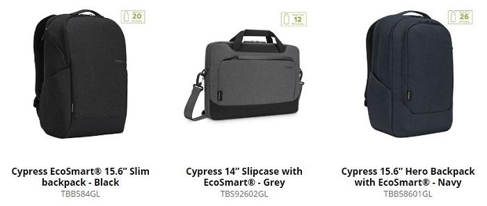 Targus Cypress EcoSmart Laptop Back Sleeve Series