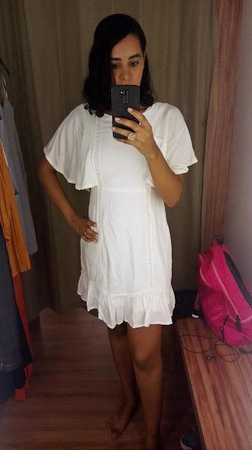 Achegue-se! GARIMPO RENNER - SHOPPING DA BAHIA - LIQUIDA SALVADOR vestido branco