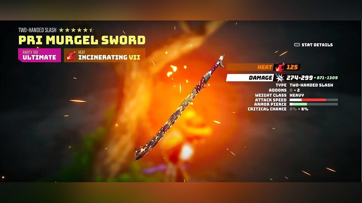 Pri murgel sword