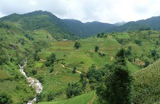 Paisajes entre Lao Cai y Sapa.