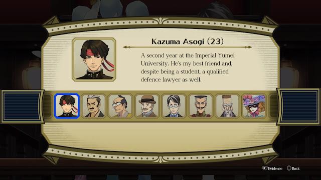 The Great Ace Attorney: Adventures testigos