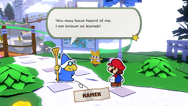 Paper Mario The Origami King Kamek broom heard of me introduction