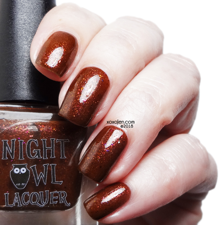 xoxoJen's swatch of Night Owl Lacquer Pumpkin Spice & Everything Nice