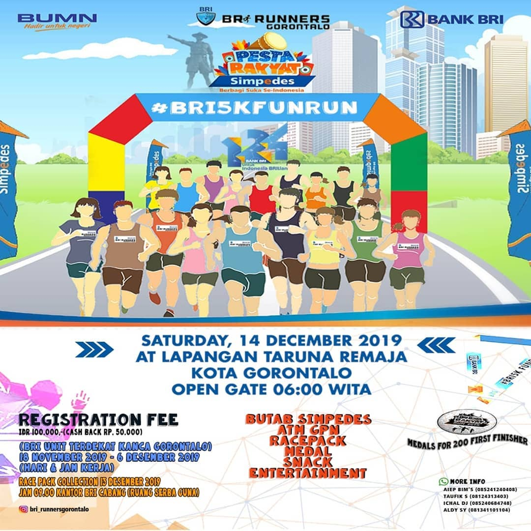 Pesta Rakyat Simpedes - BRI Fun Run - Gorontalo • 2019