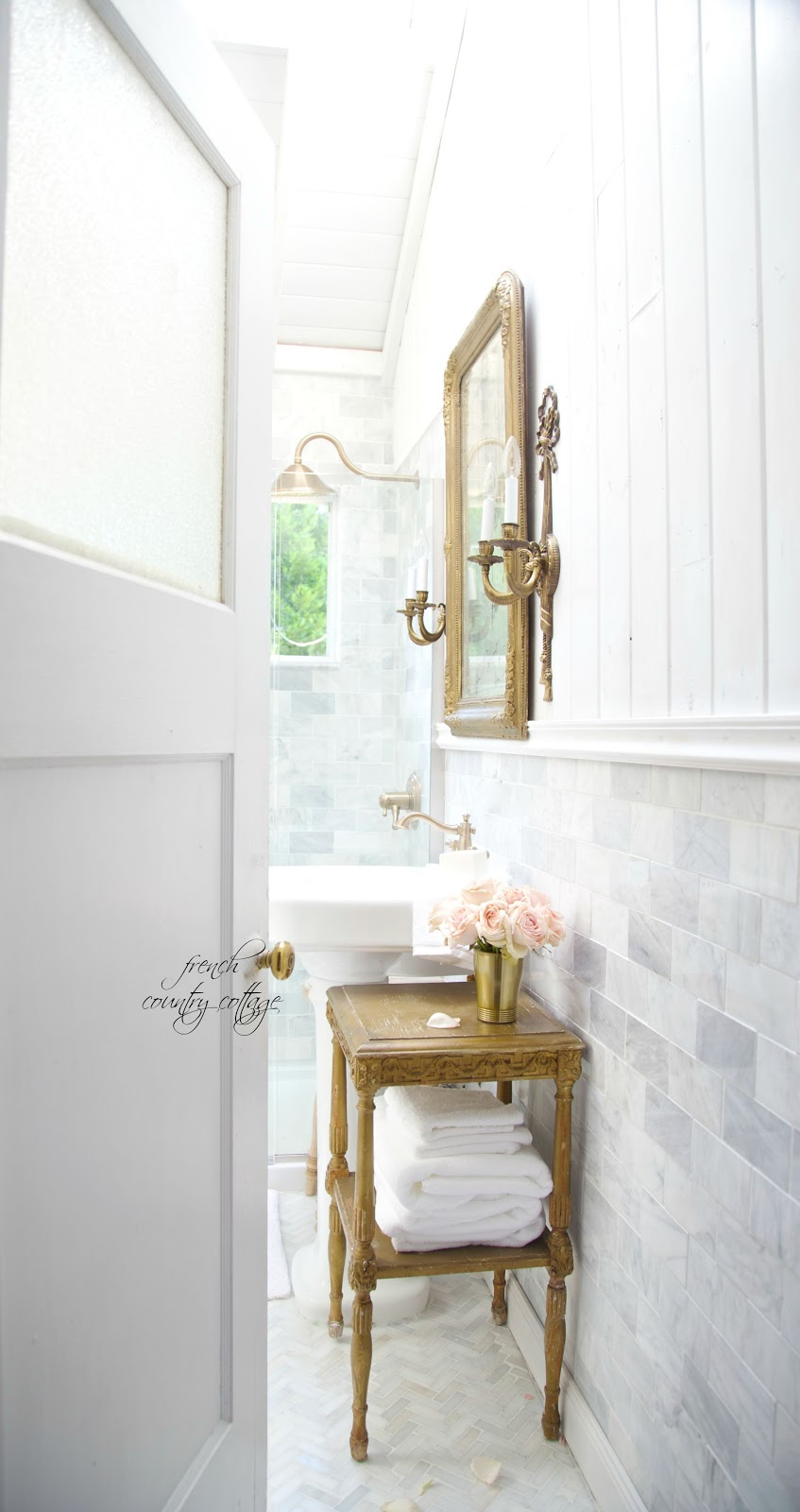Details~ The perfect pedestal sink - FRENCH COUNTRY COTTAGE