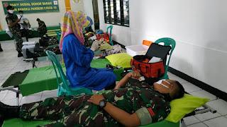 Kodam VI Mulawarman Bakti Sosial, Lewat Donor Darah, Hadapi Pandemi COVID-19, Bersama PMI Balikpapan