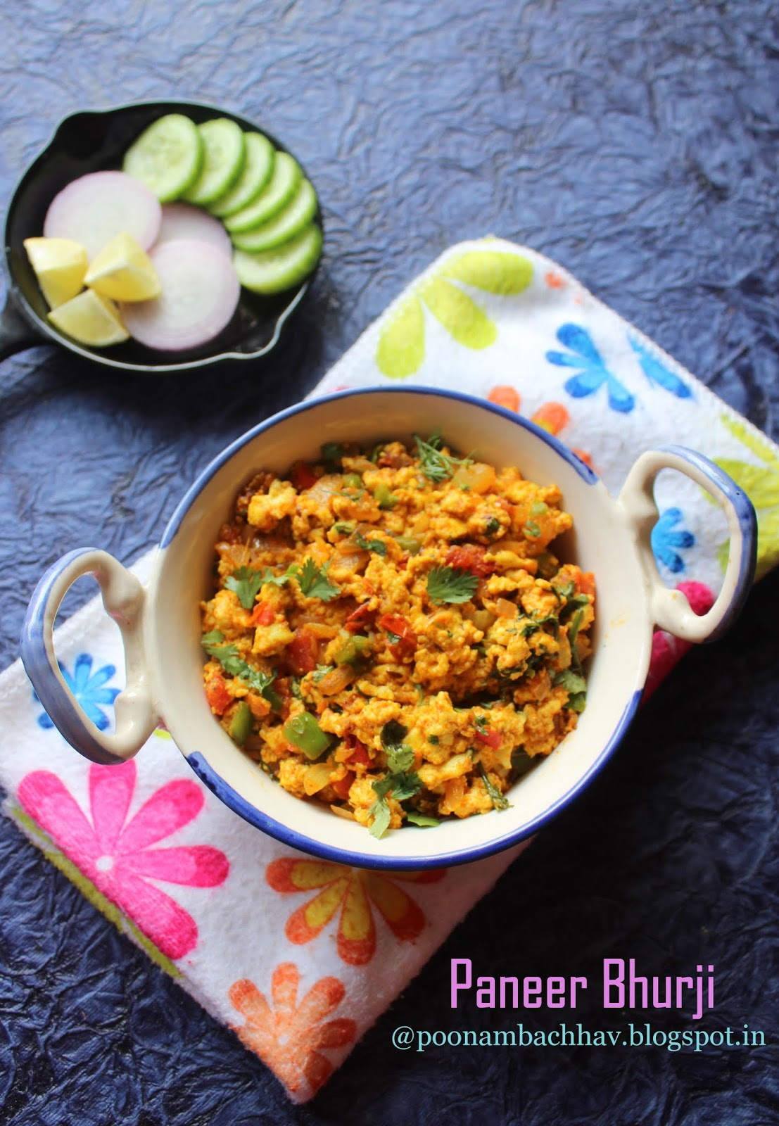 Annapurna Paneer Bhurji Scrambled Indian Cottage Cheese Recipe