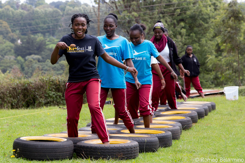 Ropes Course Tire Run Volunteering in Kenya with Freedom Global