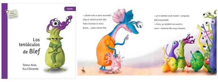 cuento infantil miedo inicio colegio, los tentaculos de blef