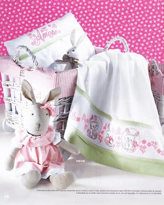 modelli con coniglietti, ochette, succhiotti, orsetti tenerissimi facilmente scaricabili e realizzabili in mille altri modi