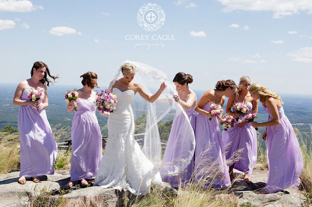lavender bridesmaid dresses | Corey Cagle Photography