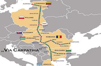 (Litvánia, Lengyelország, Ukrajna, Szlovákia, Magyarország, Románia, Bulgária, Törökország, Via Carpatia, közlekedés, infrastruktúra, autópálya