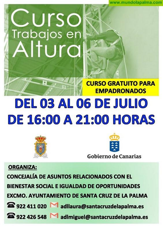Curso de Trabajos en Altura en Santa Cruz de La Palma