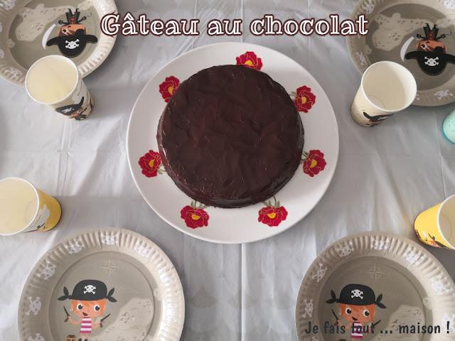 Gâteau au chocolat facile pour anniversaire