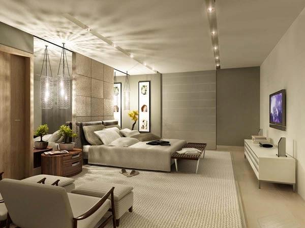 24 fotos de quartos elegantes decora o e ideias - Iluminacion dormitorios modernos ...