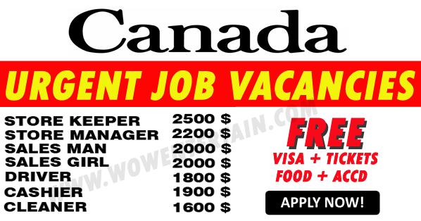 canada urgent job vacancies 2017 2018 submit your resume