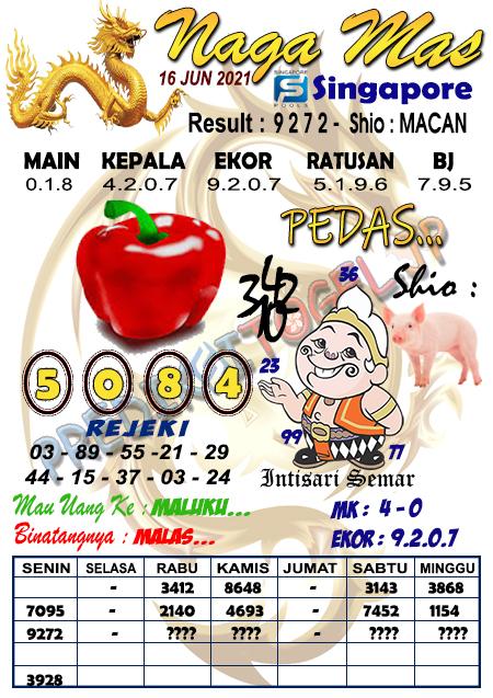 Syair Naga Mas SGP Rabu 16 Juni 2021