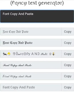 Font Copy And Paste, Fancy Text Generator