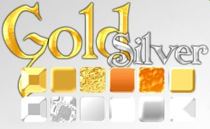 Styles Gold Silver Photoshop