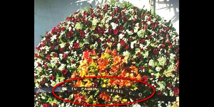 """""""DE TU PADRINO RAFAEL C. Q."""", El llamado Narco de Narcos Caro Quintero envío Corona de Rosas al """"Azulito"""" hijo de Juan José Esparragoza Moreno """"El Azul"""""""