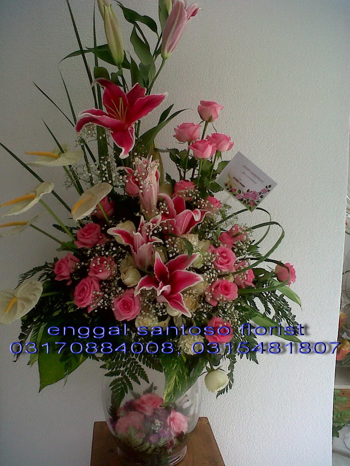 rangkaian karangan bunga meja mawar holland pink