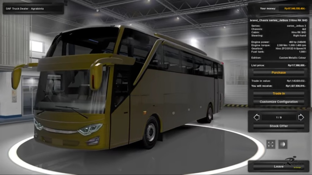 Jetbus 3 Shd Hdd By Rindray Mod Ets2 Indonesia
