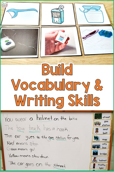 Using theme units in your classroom easily allows you to target vocabulary. Thematic units help immerse our students in the language of the unit topic or concept. Take the vocabulary a step further by using the vocabulary activities to build writing skills.