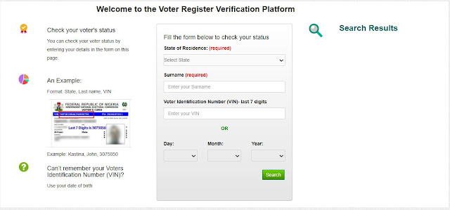 How to Check Your PVC Status Online Via INEC Voters Card Verification Portal
