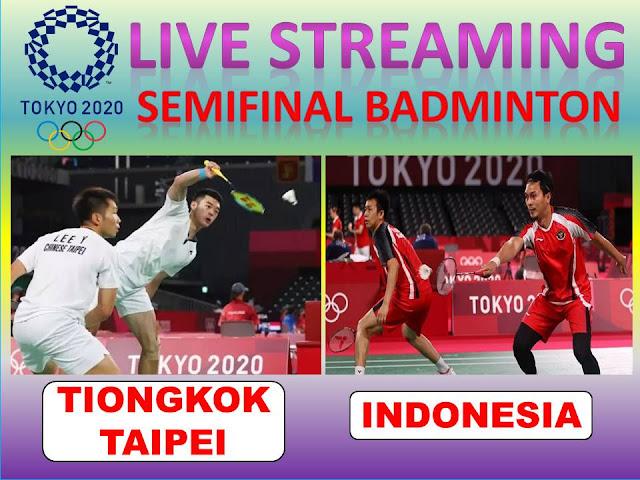 Link Live Streaming Olimpiade Semifinal Badminton Ganda Putra : Y. Lee/C.L. Wang (Tiongkok Taipei) Vs M. Ahsan/H. Setiawan (Indonesia) Jam 16.15