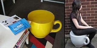 diseño de silla en forma de taza gigante