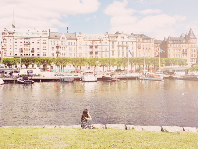 Best Stockholm Instagram Spots - view of Strandvagen from Bjugarden