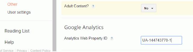 google analytics web property