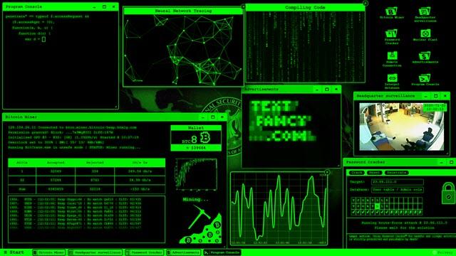 geek prank hacker per simulare di essere un hacker